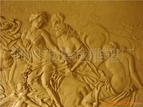国寺观壁画盘辫青铜头像大图 铜浮雕壁画 铜浮雕035