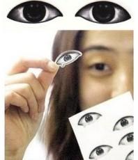 睡覺眼睛貼紙畫/上課睡覺專用眼貼/眼鏡帖