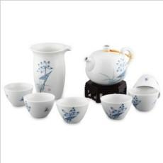 陶瓷茶具 景德镇荷趣青花瓷陶瓷茶具套装