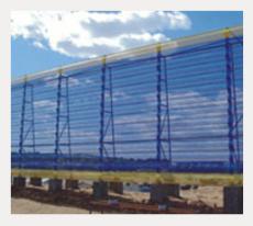 內蒙古防風網 防風抑塵網 柔性防風網
