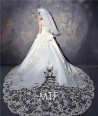 欧美高档绑带韩式婚纱豪华拖尾新款S1282