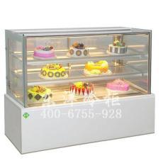 臺上直角蛋糕柜 日式玻璃門糕點柜