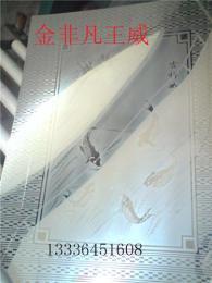高级餐厅装修不锈钢吉祥如意镜面蚀刻板