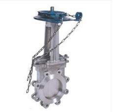 ZL73X鏈輪對夾式漿閘閥 紙漿刀閘閥