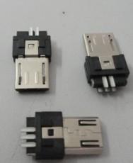 MICRO 5P超簿公头带弹片接地片