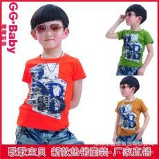 2012夏款韩版儿童短袖T恤 男童短袖