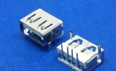 USB AF 2.0 DIP 90度短体两脚鱼叉脚