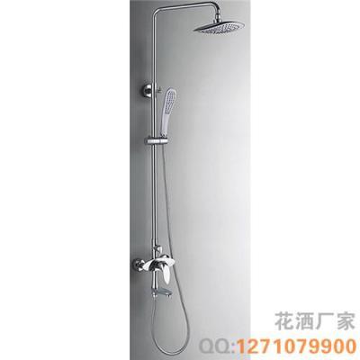 全铜淋浴柱 挂墙式升降杠花洒